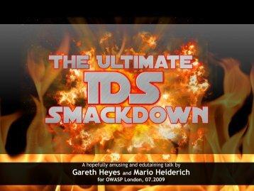 Gareth Heyes and Mario Heiderich - owasp