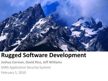 Rugged Software Development