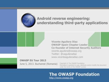 Malware identification in Android apps - owasp
