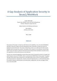 A Gap Analysis of Application Security in Struts2 - owasp