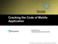 Cracking the Code of Mobile Application - owasp