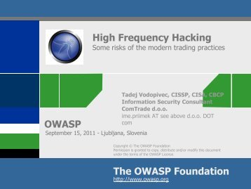 High Frequency Hacking - owasp