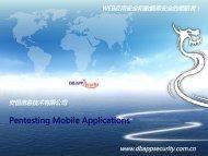 Pentesting Mobile Applications - Tony Liu & Rainman Wu - owasp