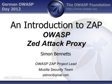 5. German OWASP Day, 07.11.2012, München : Attack Proxy