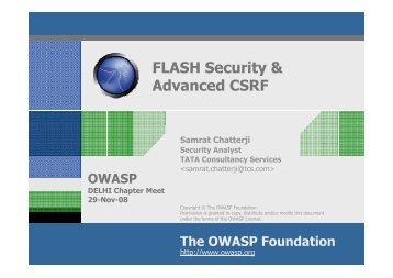 FLASH Security & Advanced CSRF - owasp
