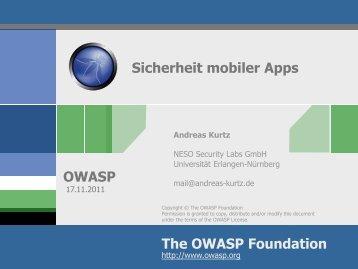Sicherheit mobiler Apps - owasp