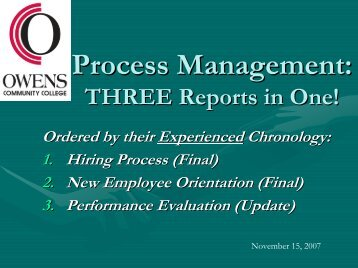 Performance Review Process - Owens Community College