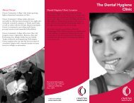 The Dental Hygiene Clinic - Owens Community College