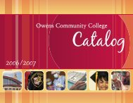 Catalog - Owens Community College