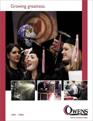 Annual Report 2001 - Owens Community College
