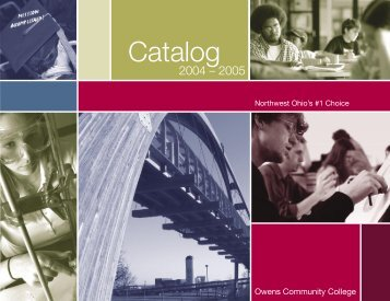 Page 1_Catalog Intro - Owens Community College