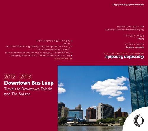 2012 – 2013 Downtown Bus Loop - Owens Community College