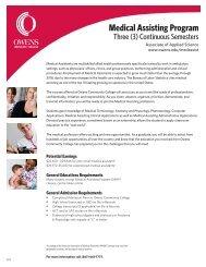 Medical Assisting Program - Owens Community College