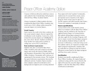 Peace Officer Academy Option - Owens Community College