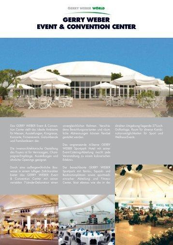 GERRY WEBER Event & Convention Center (PDF) - OWL Locations