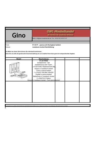 Typenplan Gino