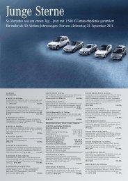 So Mercedes wie am ersten Tag – jetzt mit 1.500 € Eintauschprämie ...
