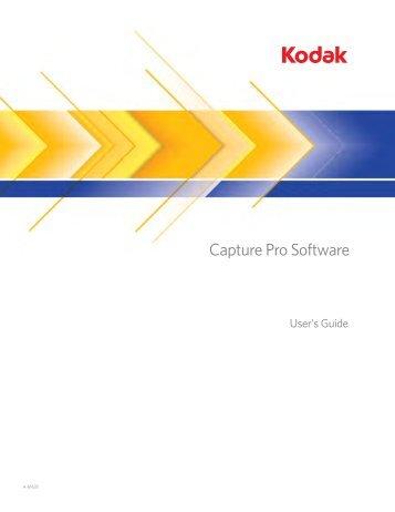 A-61635, User's Guide for Kodak Capture Pro Software