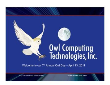 Welcome to our 7th Annual Owl Day – April 13, 2011