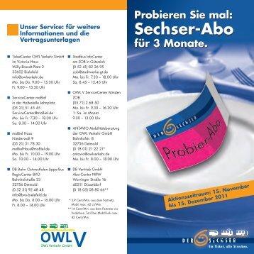 Sechser-Abo Sechser-Abo - OWL Verkehr GmbH