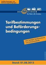 Tarifbestimmungen »Der Sechser - MoBiel GmbH
