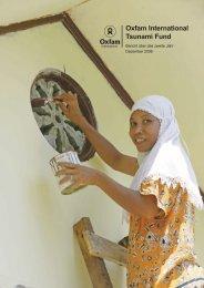 Oxfam International Tsunami Fund | Bericht über das zweite Jahr
