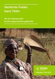 Infoblatt: Verdorrte Felder, leere Teller. Wie der Klimawandel - Oxfam