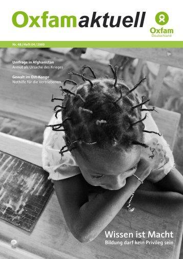 Wissen ist Macht - Bildung darf kein Privileg sein - Oxfam