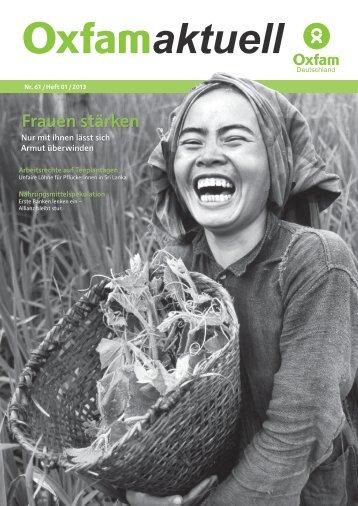 Frauen stärken - Oxfam