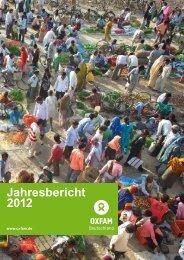 Oxfam Deutschland | Jahresbericht 2012