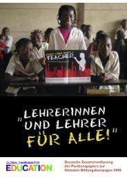 Lehrerinnen und Lehrer für alle - Oxfam