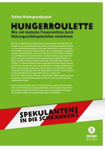 Hungerroulette - Oxfam