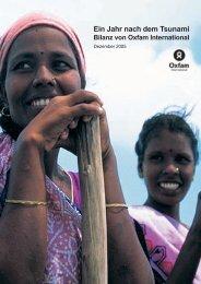 Ein Jahr nach dem Tsunami Bilanz von Oxfam International