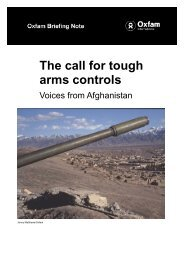 The Call for Tough Arms Controls: Voices from Afghanistan - Oxfam ...
