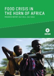 FOOD CRISIS IN THE HORN OF AFRICA - Oxfam International