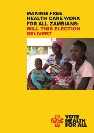 making free health care work for all zambians: will this ... - Oxfam