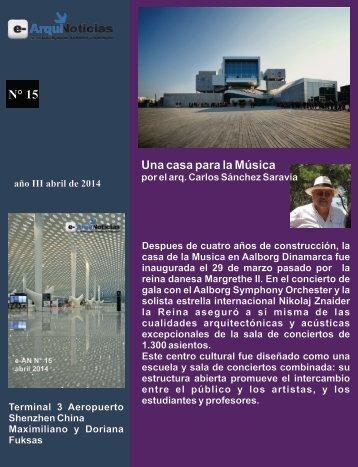e-AN N° 15 nota 2 Casa para la musica por el Arq. Carlos Sánchez Saravia
