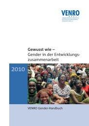 Gender in der Entwicklungszusammenarbeit - Venro