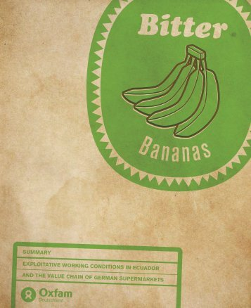 Bitter Bananas - Oxfam
