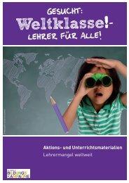 Aktions- und Unterrichtsmaterialien Lehrermangel weltweit - Oxfam