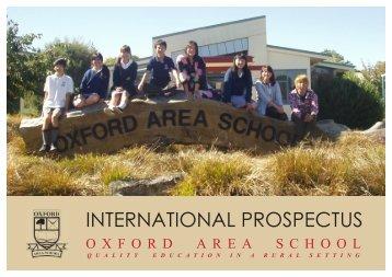 INTERNATIONAL PROSPECTUS - Oxford Area School