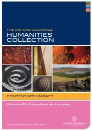 humaniTies COlleCTiOn - Oxford Journals