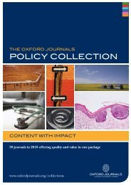 POlicy cOllectiOn - Oxford Journals