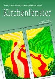 März / April / Mai 2012 - Evangelische Kirchengemeinde Rheinfelden