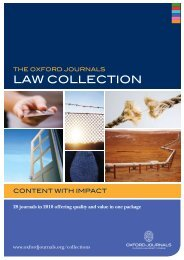 law COlleCtiOn - Oxford Journals