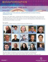 bioinformatics editorial news - Oxford Journals