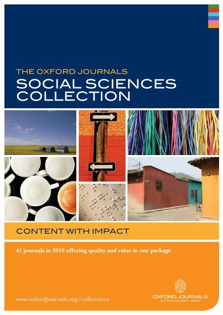 sOcial sciences cOllectiOn - Oxford Journals
