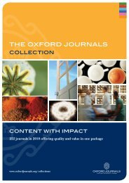 THE OXFORD jOuRNAlS