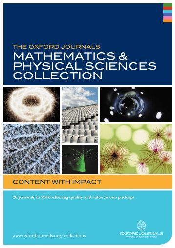 MaTheMaTics & Physical sciences cOllecTiOn - Oxford Journals