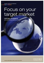 Focus on your target market - Oxford Journals
